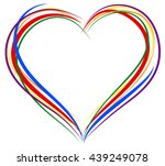 Lgbt Heart Symbol For Greeting...