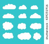 set of sky  clouds. collection... | Shutterstock .eps vector #439251916