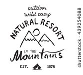 mountains hand drawn sketch...   Shutterstock . vector #439254088