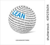 lean manufacturing word ball.... | Shutterstock .eps vector #439255654