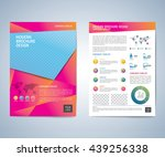 business brochure flyer design... | Shutterstock .eps vector #439256338