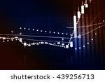 stock market chart which... | Shutterstock . vector #439256713