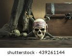 Pirate Skull With Two Swords...