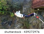 bungy jump in new zealand | Shutterstock . vector #439272976
