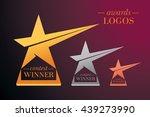 vector set of stars awards   Shutterstock .eps vector #439273990