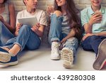 Cropped Image Of Group Of...