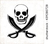 Pirate Style Smiling Skull Wit...