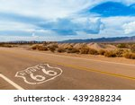 U.s. Route 66 Highway  With...