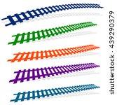 railway  railroad silhouettes... | Shutterstock .eps vector #439290379