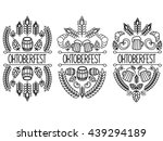 oktoberfest. 3 picture on a... | Shutterstock .eps vector #439294189