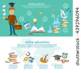 education infographic elements... | Shutterstock .eps vector #439296094