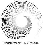 inward spiral of rectangles....   Shutterstock .eps vector #439298536