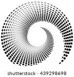 inward spiral of rectangles.... | Shutterstock .eps vector #439298698
