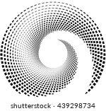 inward spiral of rectangles.... | Shutterstock .eps vector #439298734
