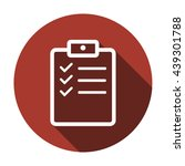 checklist  icon   isolated.... | Shutterstock .eps vector #439301788