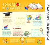 education infographics back to... | Shutterstock .eps vector #439301950