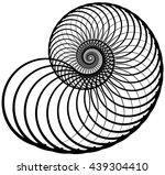 snail  helix made of inward... | Shutterstock .eps vector #439304410