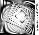 rotating squares. abstract... | Shutterstock .eps vector #439305718