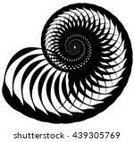snail  helix made of inward...   Shutterstock .eps vector #439305769