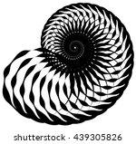 snail  helix made of inward...   Shutterstock .eps vector #439305826