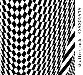 checkered pattern with warp ... | Shutterstock .eps vector #439305919