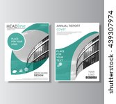 brochure design annual report... | Shutterstock .eps vector #439307974