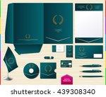 vector royal turquoise... | Shutterstock .eps vector #439308340