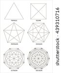 set of polyhedrons ... | Shutterstock .eps vector #439310716