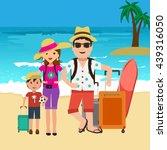 vector illustration of happy... | Shutterstock .eps vector #439316050