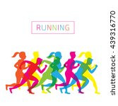 people running  athlete  sport  ... | Shutterstock .eps vector #439316770