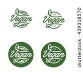 vegan related typography.... | Shutterstock .eps vector #439318570