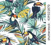 vector illustration tropical... | Shutterstock .eps vector #439321870
