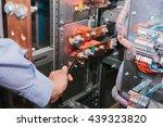 electrician near the low... | Shutterstock . vector #439323820