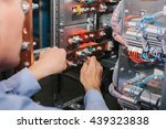 electrician near the low... | Shutterstock . vector #439323838