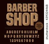 vector set of alphabet letters  ... | Shutterstock .eps vector #439324468