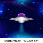 fantastic background with ufo... | Shutterstock .eps vector #439325524