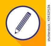 pencil vector icon.   Shutterstock .eps vector #439329136