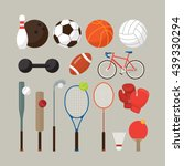 sports equipment  flat objects... | Shutterstock .eps vector #439330294