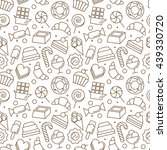 seamless pattern with different ... | Shutterstock .eps vector #439330720