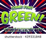 creative high detail comic font....   Shutterstock .eps vector #439331848
