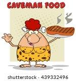cave red hair woman cartoon... | Shutterstock .eps vector #439332496