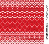 red scandinavian knitted... | Shutterstock .eps vector #439340644