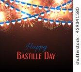 happy bastille day banner.... | Shutterstock .eps vector #439341580