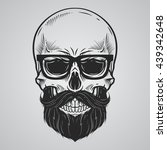 bearded skull illustration | Shutterstock .eps vector #439342648