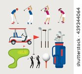 golf objects and graphic... | Shutterstock .eps vector #439344064