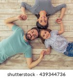 top view of beautiful young... | Shutterstock . vector #439344736