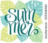summer  hand written vector... | Shutterstock .eps vector #439348483