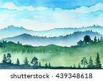 watercolor mountains   Shutterstock . vector #439348618