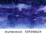 watercolor night sky | Shutterstock . vector #439348624