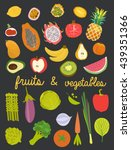 fruits and vegetable | Shutterstock .eps vector #439351366